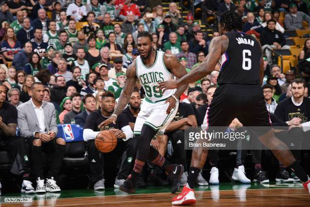 Jae Crowder of the Boston Celtics handles the ball against the LA Clippers on February 5 2017 at the TD Garden in Boston Massachusetts NOTE TO USER...