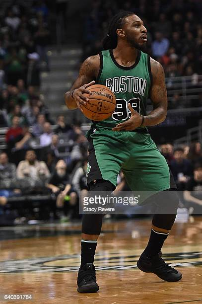 Jae Crowder of the Boston Celtics handles the ball during a game against the Milwaukee Bucks at the BMO Harris Bradley Center on January 28 2017 in...