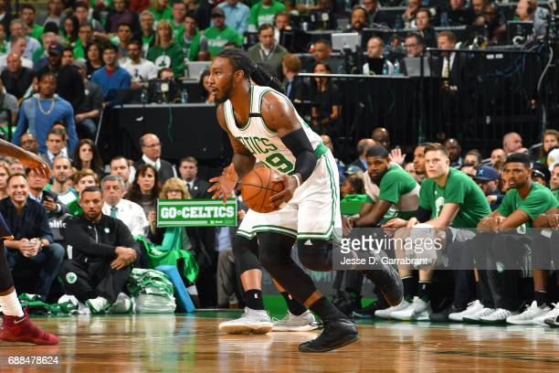 Jae Crowder of the Boston Celtics handles the ball during the game against the Cleveland Cavaliers during Game Five of the Eastern Conference Finals...
