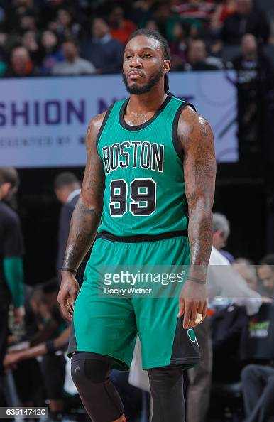 Jae Crowder of the Boston Celtics looks on during the game against the Sacramento Kings on February 8 2017 at Golden 1 Center in Sacramento...