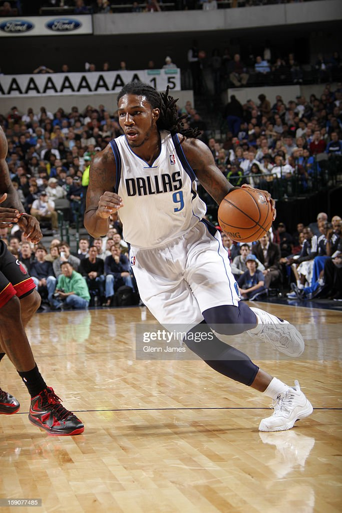 Jae Crowder #9 of the Dallas Mavericks drives to the basket against the Miami Heat on December 20, 2012 at the American Airlines Center in Dallas, Texas.