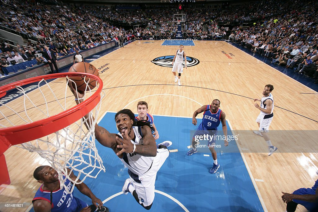 <a gi-track='captionPersonalityLinkClicked' href=/galleries/search?phrase=Jae+Crowder&family=editorial&specificpeople=7357507 ng-click='$event.stopPropagation()'>Jae Crowder</a> #9 of the Dallas Mavericks drives to the basket against the Philadelphia 76ers on November 18, 2013 at the American Airlines Center in Dallas, Texas.
