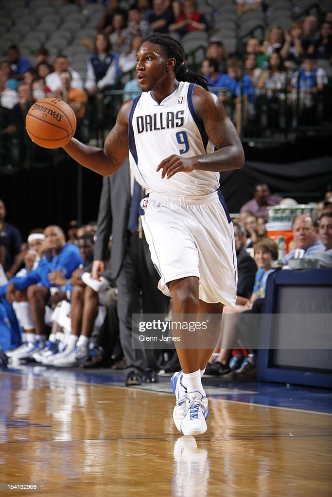 Jae Crowder #9 of the Dallas Mavericks handles the ball against the Houston Rockets on October 15, 2012 at the American Airlines Center in Dallas, Texas.