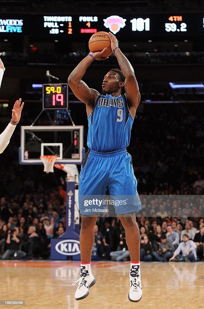 Jae Crowder #9 of the Dallas Mavericks in action against the New York Knicks at Madison Square Garden on November 9, 2012 in New York City. The Knicks defeated the Mavericks 104-94.