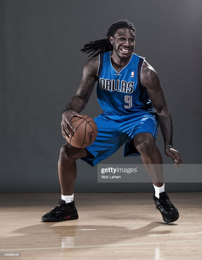 Jae Crowder #9 of the Dallas Mavericks poses during the 2012 NBA Rookie Photo Shoot at the MSG Training Center on August 21, 2012 in Tarrytown, New York.