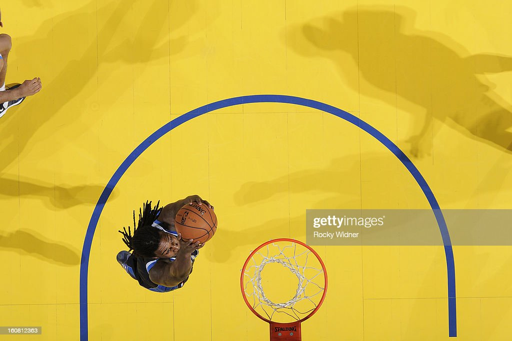 <a gi-track='captionPersonalityLinkClicked' href=/galleries/search?phrase=Jae+Crowder&family=editorial&specificpeople=7357507 ng-click='$event.stopPropagation()'>Jae Crowder</a> #9 of the Dallas Mavericks rebounds against the Golden State Warriors on January 31, 2013 at Oracle Arena in Oakland, California.