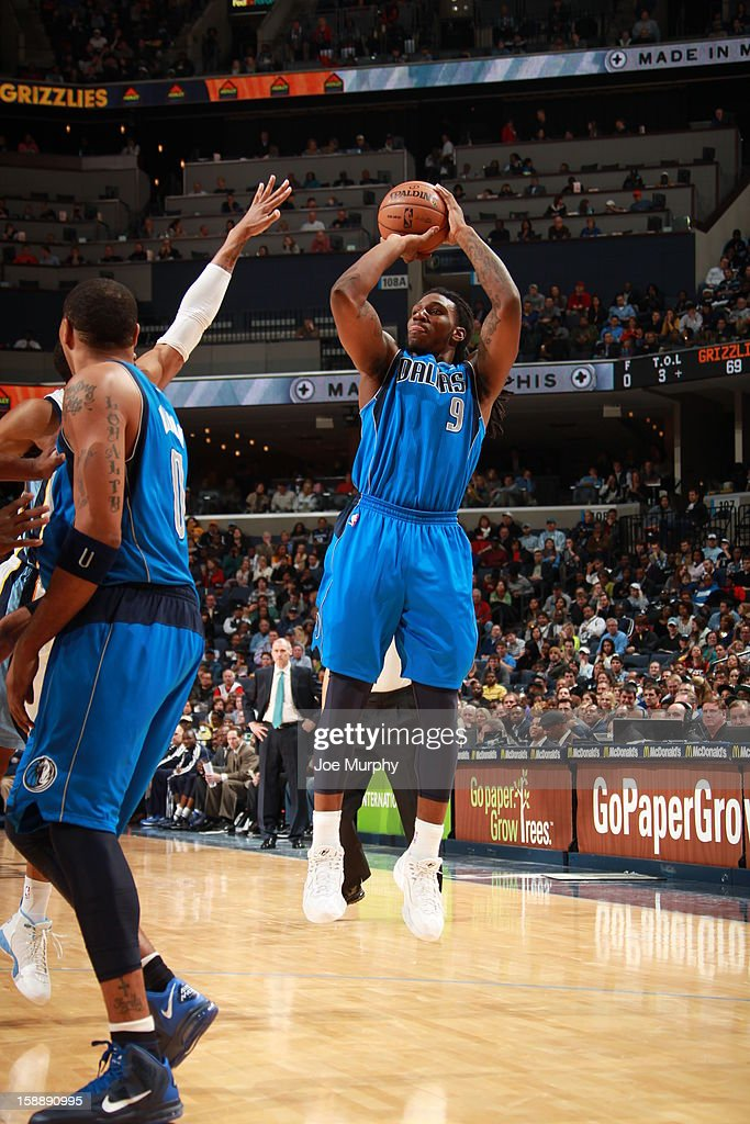 Jae Crowder #9 of the Dallas Mavericks shoots against the Memphis Grizzlies on December 21, 2012 at FedExForum in Memphis, Tennessee.