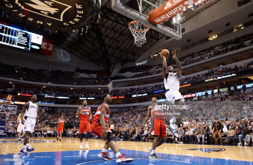 Jae Crowder of the Dallas Mavericks takes a shot against the Washington Wizards at American Airlines Center on November 14 2012 in Dallas Texas NOTE...