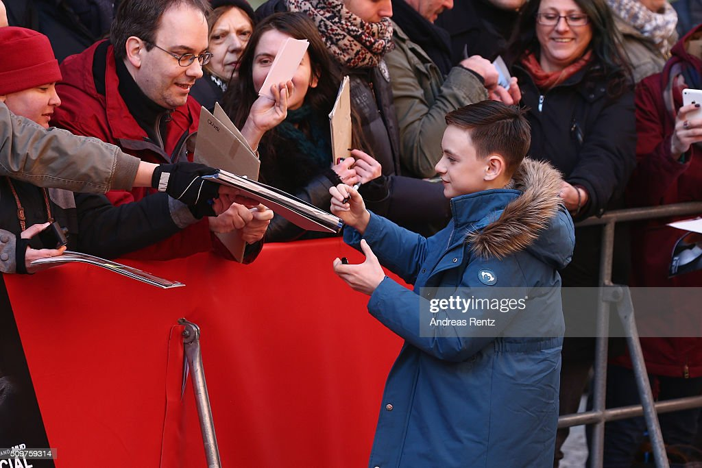 Jaeden Lieberher arrives for the 'Midnight Special' photo call during the 66th Berlinale International Film Festival Berlin at Grand Hyatt Hotel on February 12, 2016 in Berlin, Germany.