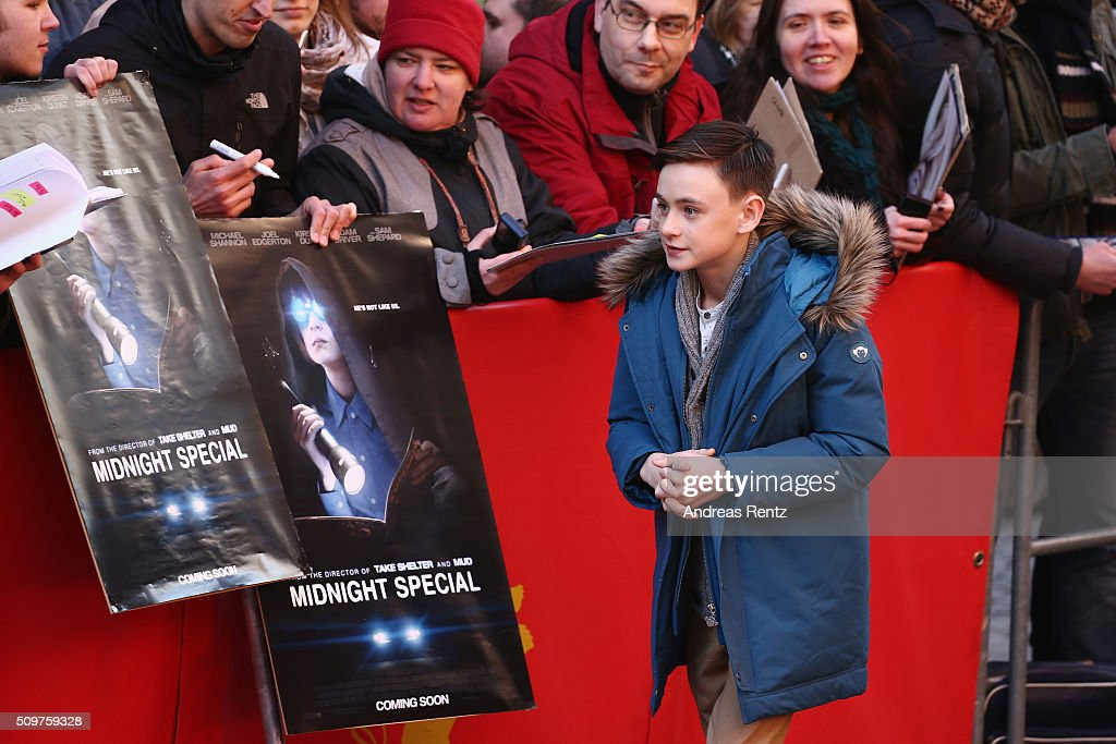 <a gi-track='captionPersonalityLinkClicked' href=/galleries/search?phrase=Jaeden+Lieberher&family=editorial&specificpeople=11117189 ng-click='$event.stopPropagation()'>Jaeden Lieberher</a> arrives for the 'Midnight Special' photo call during the 66th Berlinale International Film Festival Berlin at Grand Hyatt Hotel on February 12, 2016 in Berlin, Germany.