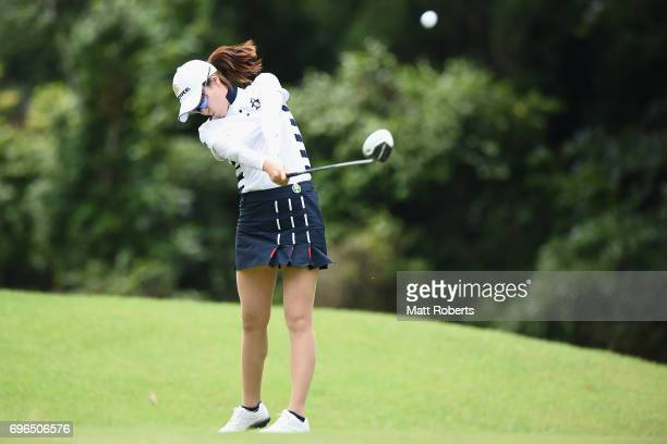 JaeEun Chung of South Korea hits her tee shot on the 2nd hole during the first round of the Nichirei Ladies at the Sodegaura Country Club Shinsode...