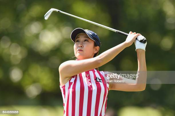 JaeEun Chung of South Korea hits her tee shot on the 4th hole during the third round of the 50th LPGA Championship Konica Minolta Cup 2017 at the...