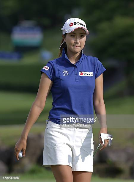 JaeEun Chung of South Korea plays during the second round of the Resorttrust Ladies at the Maple Point Golf Club on May 30 2015 in Yamanashi Japan