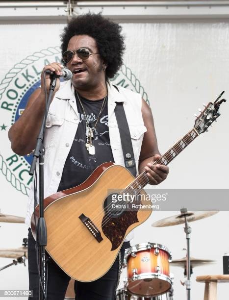 Jaeffrey Gaines performs at the RocklandBergen Music Festival at German Masonic Park on June 24 2017 in Tappan New York