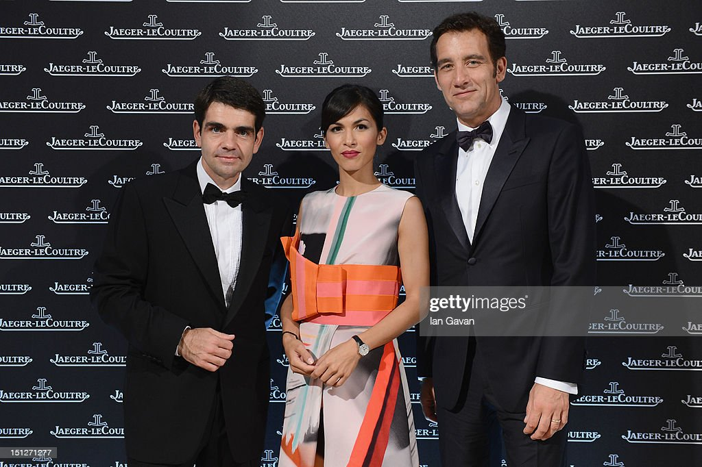 Jaeger-LeCoultre CEO <a gi-track='captionPersonalityLinkClicked' href=/galleries/search?phrase=Jerome+Lambert&family=editorial&specificpeople=4001752 ng-click='$event.stopPropagation()'>Jerome Lambert</a>, <a gi-track='captionPersonalityLinkClicked' href=/galleries/search?phrase=Elodie+Yung&family=editorial&specificpeople=7901076 ng-click='$event.stopPropagation()'>Elodie Yung</a> and Clive Owen attend a gala dinner hosted by Jaeger-LeCoultre celebrating The Rendez-Vous Collection at Giustinian Palace in Venice during the 69th Venice Film Festival on September 4, 2012 in Venice, Italy.