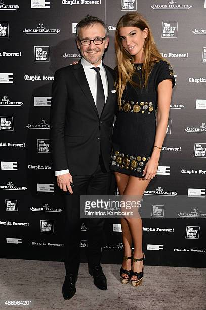 JaegerLeCoultre Communication Director Laurent Vinay and Bianca Brandolini attend the Charlie Chaplin 'Chaplin Forever' exhibition hosted by...