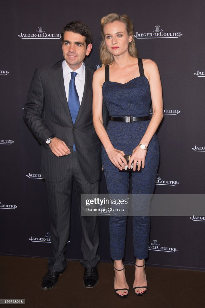 JaegerLeCoultre Jerome Lambert and Diane Kruger attend the JaegerLeCoultre Place Vendome Boutique Opening at JaegerLeCoultre Boutique on November 20...