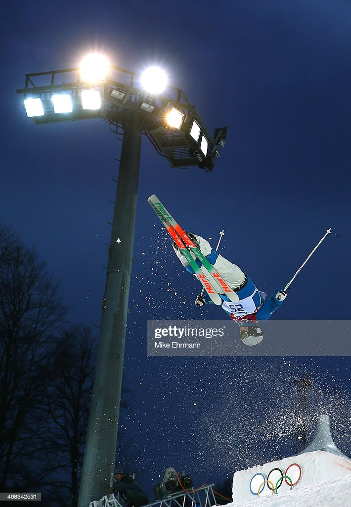 JaeWoo Choi of South Korea competes in the Men's Moguls Qualification on day three of the Sochi 2014 Winter Olympics at Rosa Khutor Extreme Park on...