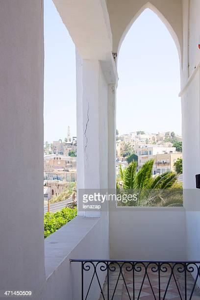 Blick auf Jaffa, von der old house Balkon