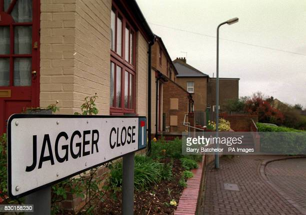 Jagger Close in Dartford built in 1988 The street is named to commemorate the first meeting of Mick Jagger and Keith Richards of the Rolling Stones...