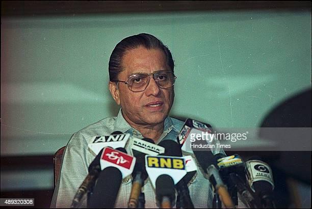 Jagmohan Dalmiya at a press conference on November 23 2001 in Kolkata India BCCI President Jagmohan Dalmiya died of a heart attack in Kolkata He was...