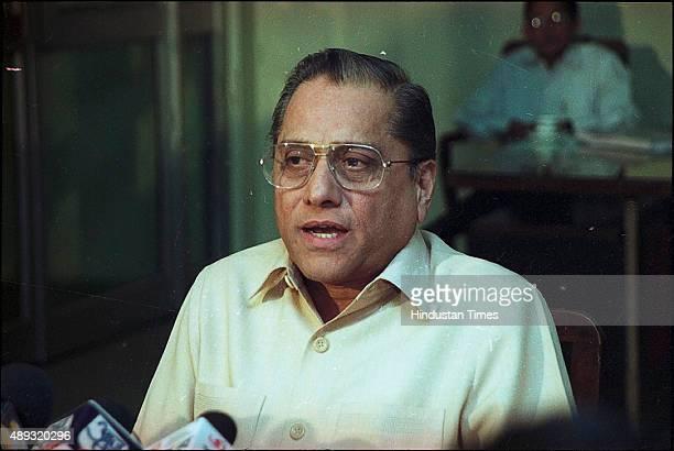 Jagmohan Dalmiya at a press conference on November 28 2001 in Kolkata India BCCI President Jagmohan Dalmiya died of a heart attack in Kolkata He was...