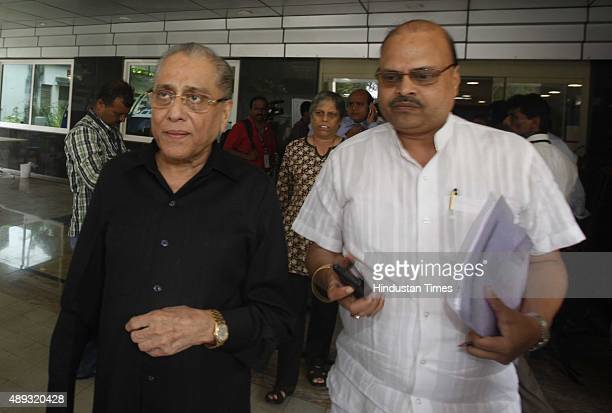 Jagmohan Dalmiya leaves after attending the Annual General Meeting at the Board of Control for Cricket in India head office on September 27 2012 in...