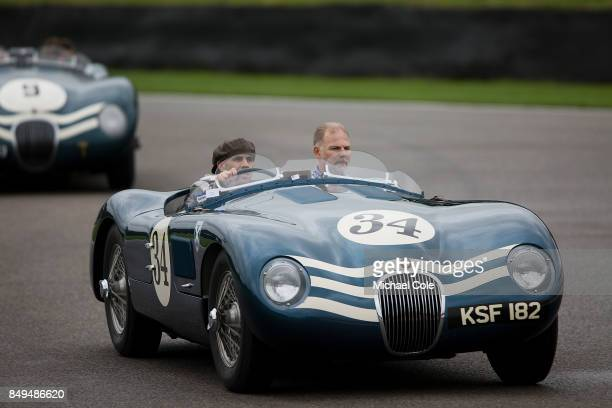 Jaguar Ctype during the Ecurie Ecosse Parade at Goodwood on September 8th 2017 in Chichester England