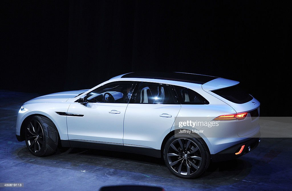 the jaguar f type coupe launch party and reveal getty images. Black Bedroom Furniture Sets. Home Design Ideas