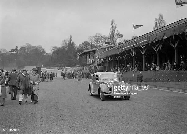 SS Jaguar saloon at a race meeting at Crystal Palace London 1939 Artist Bill BrunellSS Jaguar Saloon 1936 Vehicle Reg No DKM111 Place Crystal Palace...