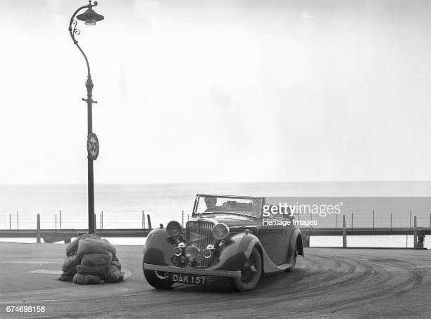 Jaguar SS of RM Proctor at the RAC Rally Brighton Sussex 1939 Artist Bill Brunell