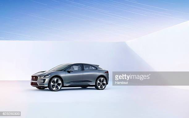 Jaguar unveils its first ever fully electric car with the Jaguar IPACE concept at Milk Studios on November 14 2016 in Los Angeles California