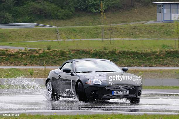Jaguar XKR skidding