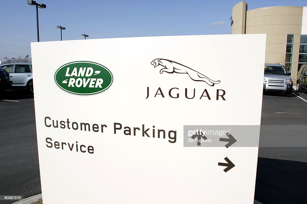 Jaguar/Land Rover sign is stands at a Jaguar/Land Rover dealership March 26 2008 in Utica Michigan Ford Motor Company announced it had entered into a...