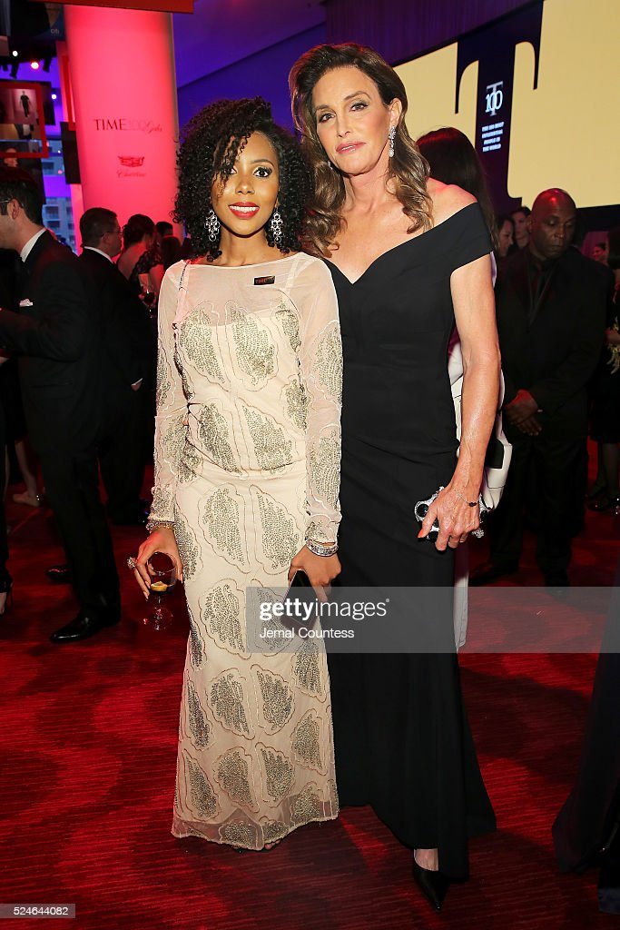 Jaha Dukureh (L) and Caitlyn Jenner attend 2016 Time 100 Gala, Time's Most Influential People In The World - Cocktails at Jazz At Lincoln Center at the Times Warner Center on April 26, 2016 in New York City.