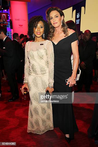 Jaha Dukureh and Caitlyn Jenner attend 2016 Time 100 Gala Time's Most Influential People In The World Cocktails at Jazz At Lincoln Center at the...
