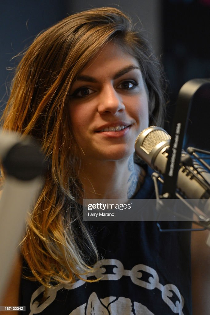 Jahan Yousaf of Krewella visits Y 100 radio station on November 8, 2013 in Miami, Florida.