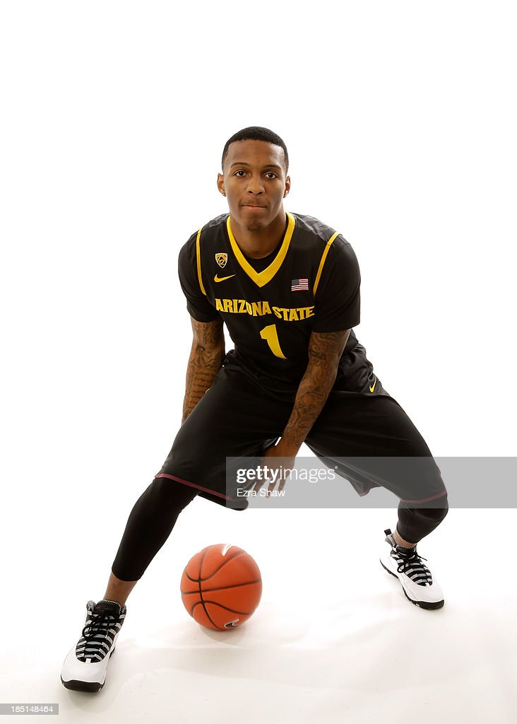Jahii Carson of Arizona State poses for a portrait during the PAC-12 Men's Basketball Media Day on October 17, 2013 in San Francisco, California.