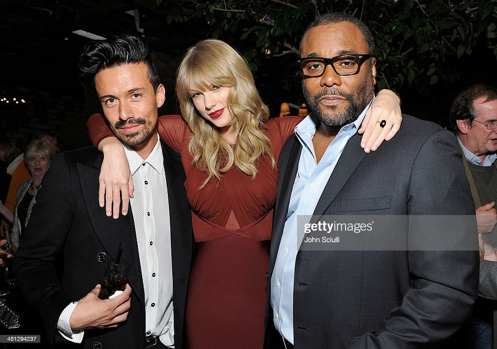 Jahil Fisher, <a gi-track='captionPersonalityLinkClicked' href=/galleries/search?phrase=Taylor+Swift&family=editorial&specificpeople=619504 ng-click='$event.stopPropagation()'>Taylor Swift</a> and <a gi-track='captionPersonalityLinkClicked' href=/galleries/search?phrase=Lee+Daniels&family=editorial&specificpeople=209078 ng-click='$event.stopPropagation()'>Lee Daniels</a> attend the Weinstein Company's holiday party at RivaBella on November 21, 2013 in West Hollywood, California.