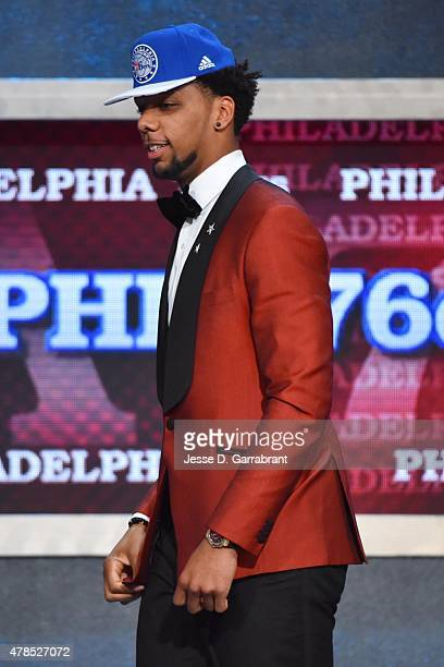 Jahil Okafor the 3rd pick overall in the 2015 NBA Draft by the Philadelphia 76ers during the 2015 NBA Draft at the Barclays Center on June 25 2015 in...