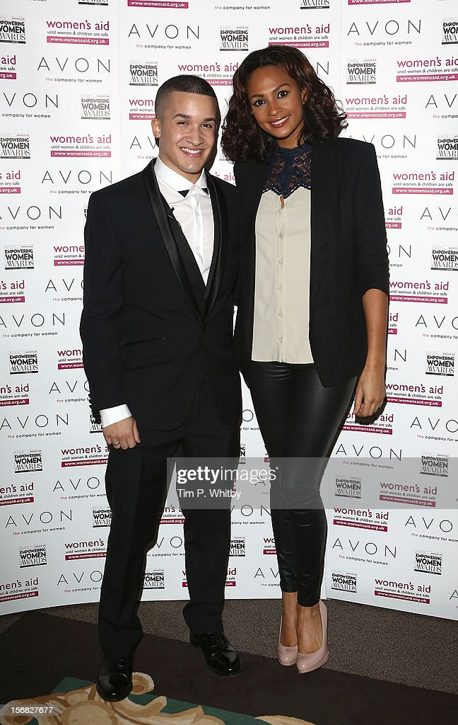 Jahmene Douglas and judge Alesha Dixon attends the star-studded 2012 Empowering Women Awards, hosted by Avon Cosmetics and national Charity Women's Aid at Claridge's Hotel on November 22, 2012 in London, England. The stars came together with this year's winners to celebrate the annual awards - which are designed to recognise the bravery and achievements of women survivors of domestic violence, and those who work tirelessly to support women and children affected by abuse.