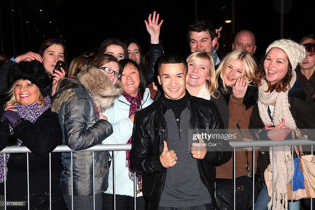 Jahmene Douglas attends a press conference ahead of the X Factor final this weekend at Manchester Conference Centre on December 6, 2012 in Manchester, England.