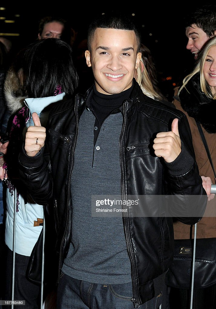Jahmene Douglas attends a press conference ahead of the X Factor final this weekend at Manchester Conference Centre on December 6 2012 in Manchester...