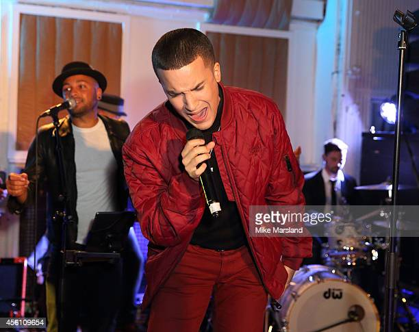 Jahmene Douglas attends One For The Boys #SingOne4TheBoys Karaoke Night at Abbey Road Studios on September 25 2014 in London England