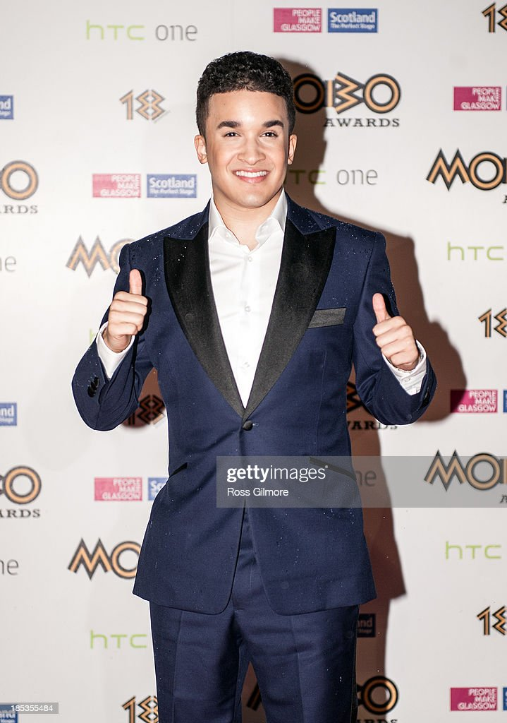 Jahmene Douglas attends the MOBO awards 2013 at The Hydro on October 19 2013 in Glasgow Scotland