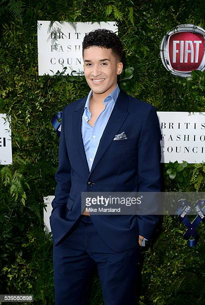 Jahmene Douglas attends the One For The Boys Fashion Ball at The VA on June 12 2016 in London England