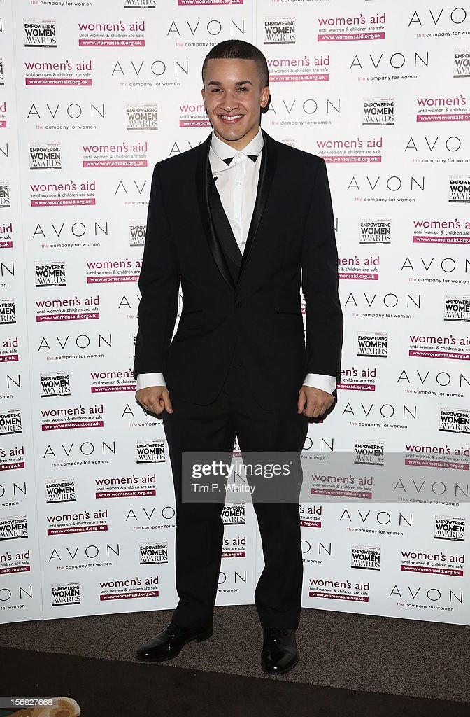 Jahmene Douglas attends the star-studded 2012 Empowering Women Awards, hosted by Avon Cosmetics and national Charity Women's Aid at Claridge's Hotel on November 22, 2012 in London, England. The stars came together with this year's winners to celebrate the annual awards - which are designed to recognise the bravery and achievements of women survivors of domestic violence, and those who work tirelessly to support women and children affected by abuse.