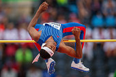 JahNhai Perinchief feom Bermuda competes in men's high jump during the IAAF World U20 Championships at the Zawisza Stadium on July 22 2016 in...