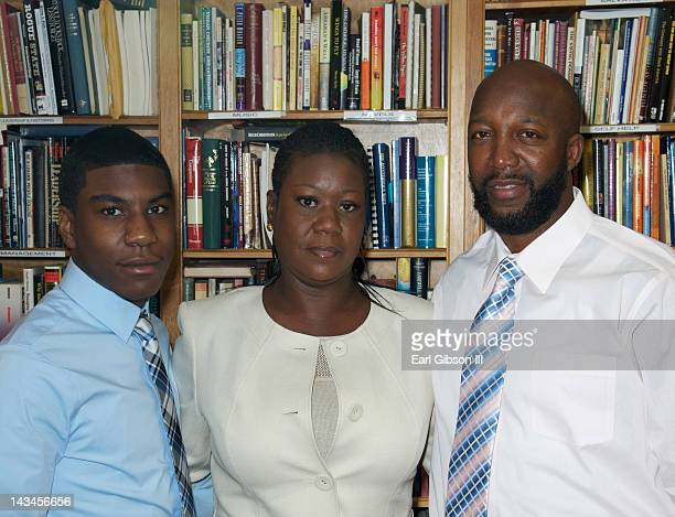 Jahvaris Fulton Sybrina Fulton and Tracy Martin pose for a photo at the NAACP Trayvon Martin Rally in support of their son Jahvaris Fulton Sybrina...