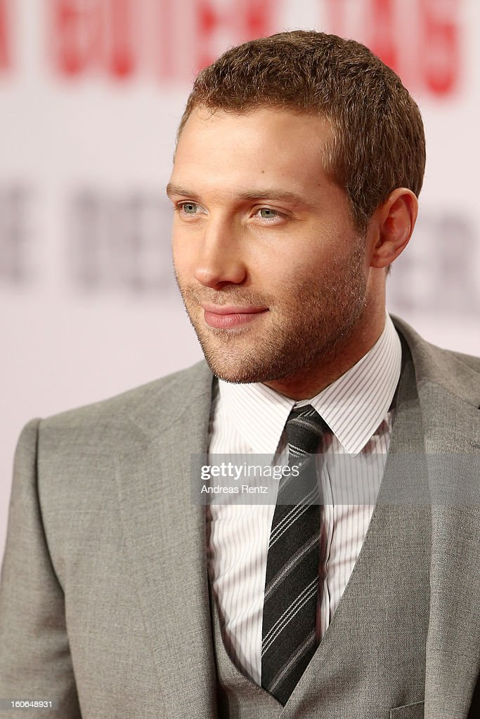 <a gi-track='captionPersonalityLinkClicked' href=/galleries/search?phrase=Jai+Courtney&family=editorial&specificpeople=6723038 ng-click='$event.stopPropagation()'>Jai Courtney</a> attends 'Die Hard - Ein Guter Tag Zum Sterben' Germany Premiere at Cinestar Potsdamer Platz on February 4, 2013 in Berlin, Germany.